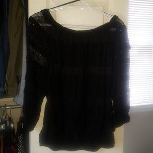 Candies Lace Black shirt